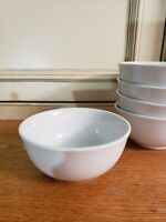 """EXC~Set 5*~Classic Fitz And Floyd Everyday White Porcelain 6"""" Cereal Soup Bowls"""