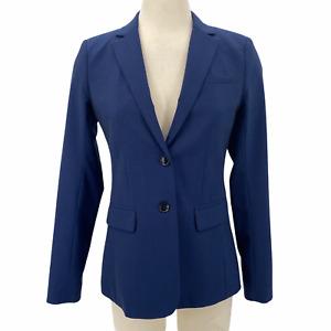 Banana Republic Blazer Marzotto Wool Long and Lean Blue Jacket Women's Size 0