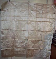 Retro Beige Damaask Tablecloth  Square 70's Vintage  130 x 130cm Caravan