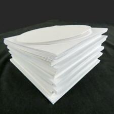 "Cards and Matching Envelopes 5"" x 5"" Square and  Round Ones in White Card-making"