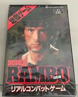 Japan Import Original boxed Sharp X1 game Super Rambo 5.25 floppy disk tested
