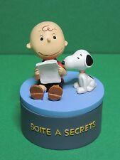 Peanuts Snoopy & Charlie Brown resin figure secret box / Avenue of the stars