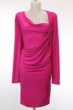 NWT  Michael Kors Pink Long Sleeve Draped Jersey Shift Dress Size 12