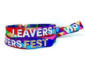 LEAVERS FEST End of School Festival Party Wristbands - School Leavers Party