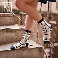 Fashion Unisex Casual Cotton Plaid Socks Design Fashion Dress Mens Women's Socks