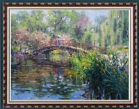 "Hand painted Original Oil Painting Landscape art garden tree on canvas 30""x40"""