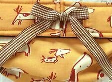 NEW! LULIBOOS DESIGNER DOG PANTY BRITCHES DIAPER RUST BROWN DOGGIES ON CARAMEL