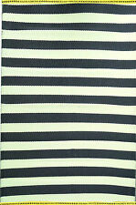 Trendy New Stripes Outdoor/Indoor Mats(Black) -Modern Floor Rug 150cm X240cm