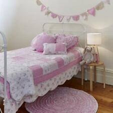 2 pce Shabby Chic Mia Vintage Floral Patchwork Ruffle Single Bed Coverlet Set