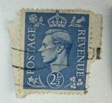 .LOT OF 20 KING GEORGE VI 2 1/2D POSTAGE STAMPS GREAT BRITAIN - U WW2 ERA