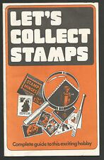 """Vintage """"Lets Collect Stamps"""" by A. D. Stansfield a 20 page booklet Vintage"""