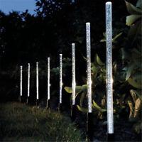 Eg _ 8PCS Extérieur LED Solaire Gazon Lumières Jardin Courtyard Allées Lampes
