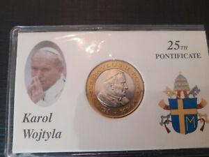 2 euro Vatican 2005 Jean Paul II Prova  Euro pattern prototype 25 ans pontificat