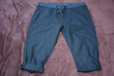 RIVERS Size 14 Black CROP PANTS Leg Cuff ADJ.HEM rrp$49.95 Linen/Cotton.