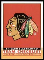 2020-21 UD O-Pee-Chee Retro Team Checklist #557 Chicago Blackhawks