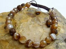 Natural gemstone bracelet all 8mm Coffe Agate Beads faceted