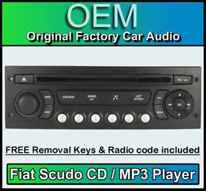 Fiat Scudo Autoradio Mp3 Lecteur CD Fiat Rd4 Radio + Gratuit Bordeaux Code