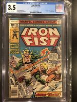 IRON FIST #14 (Sabretooth 1st App) CGC 3.5 Off White Pages Marvel Comics 1977