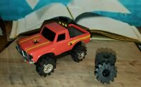 Vtg  Schaper Stomper Chevy Luv W / Extra Set Of Tires Tested Runs & Light Works!