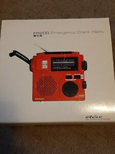 SEALED* GEUNDIG FR200 Emergency AM/FM/SW World Band Radio Hand Crank Flash Light