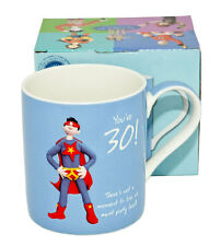 """Happy Birthday Blue Mug -   """"You're 30! . There is not a moment to lose.."""
