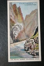 Denver & Rio Grande Western Rail Road  Royal Gorge Colorado # Vintage Card