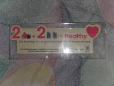 "Brand New 2 ""Eat Healthy"" fridge magnet *Free Postage"