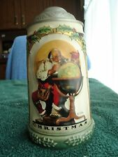 The Christmas Collection Saturday Evening Cover Stein-Mug Limited Edition