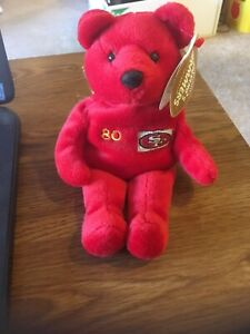 1999 Salvino's Bammers Bear San Francisco 49ers #80 Jerry Rice w/tag