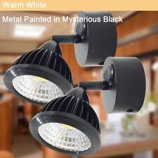 2X RV 12v 3w Adjustable LED Reading Light w/Switch Vintage Black Lamp Warm White