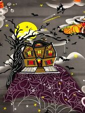 Halloween Henry Glass Legend of Webb Hill Witch Witches Haunted House Fabric 1yd