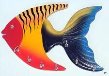 Fish shaped handicraft Design wooden Wall Hanging keys holder Hanger stand