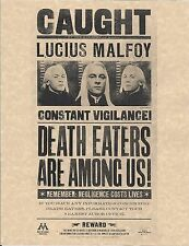 Harry Potter Lucius Malfoy Caught Flyer Prop/Replica