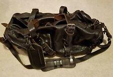 Ralph Lauren Men's Brown Leather Duffel Bag