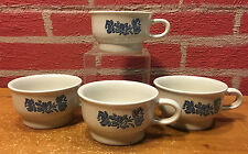 Pfaltzgraff Yorktowne Set of 4 Flat Cups  Coffee Tea Soup - Very Good Condition