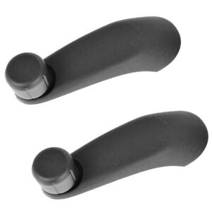 2 NEW Manual Window Crank Handles Black for Express Savanna Van 1500 2500 3500