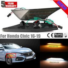 LED Turn Signal Side Marker Light Lamp Smoke For Honda Civic 2016- Sedan Coupe @
