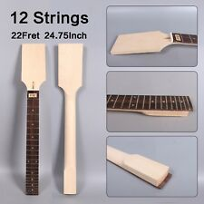 1X 12string Electric Guitar Neck Maple 22fret 24.75inch Rosewood Fretboard #D25