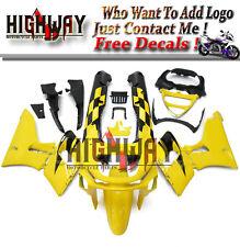 Injection Fairings For Kawasaki ZZR600 93-07 94 95 ABS Bodywork Kit Yellow Black