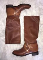Mulberry Cognac Brown Knee High Leather Riding Boots Size 8.5 (39 Euro)