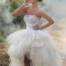 High Low Beaded Wedding Short Dress Bridal Gown Custom Size 2 4 6 8 10 12 14 16