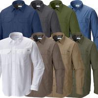 "New Mens Columbia ""Silver Ridge"" Vented Omni-Wick Long Sleeve Shirt"