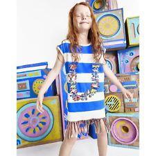 STELLA Mccartney Kids Baby Ragazze a Righe Grigio HULA ABITO 2 anni
