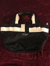 Kate Spade CLASSIC Signature Logo Bow Nylon/Leather Small Mini Tote Bag Purse