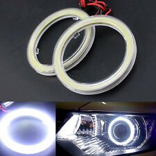 2 Pcs 60mm White COB Halo Rings Angel Eyes Car LED Headlight Lamp DRL DC 12V
