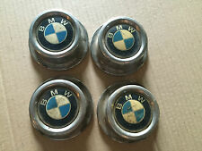 SET OF 4 BMW E12 E23 E24 E28 BOTTLE WHEEL CENTRE BORE HUB METAL CAPS COVERS