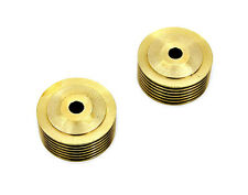 OLD SCHOOL BRASS SPARK PLUG COOLING FIN SET 14-18MM PLUGS HARLEY BOBBER CHOPPER