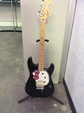 RARE FENDER SQUIER HELLO KITTY STRATOCASTER ELECTRIC GUITAR STRAT PINK. W Case.