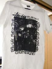 STUSSY NITRO MICROPHONE UNDERGROUND WHITE T SHIRT SIZE S USED RARE EXCLUSIVE F/S