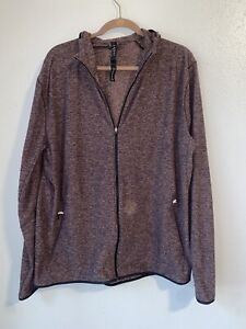lululemon Surge Warm Full zip Jacket Heathered Cassis mens XXL LM4669S